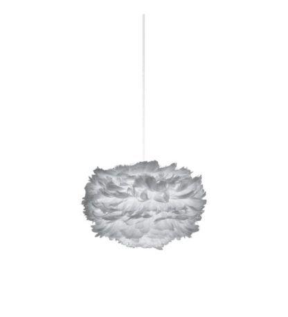 szara lampa wisząca w skandynawskim stylu