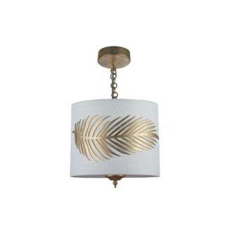 Lampa wisząca Farn - Maytoni - biała, złota