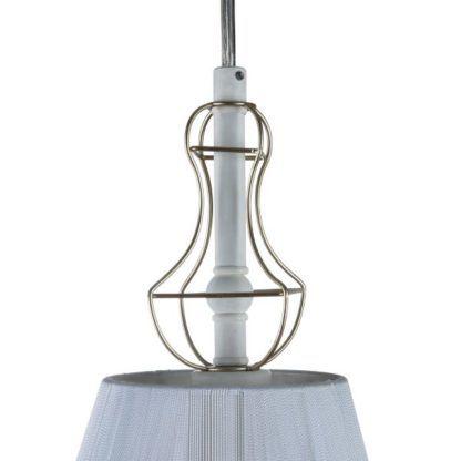 lampa wisząca z drucianymi zdobieniami