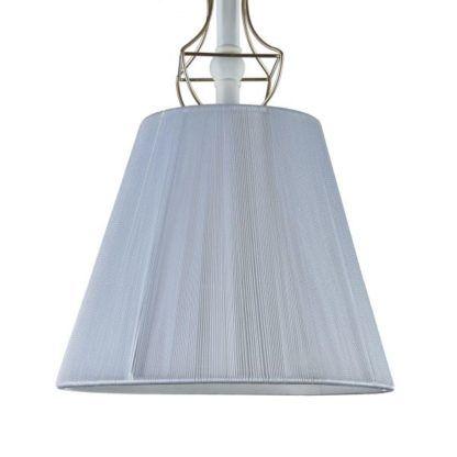 Lampa wisząca klasyczna z abażurem Frame - Maytoni - biała, tkanina