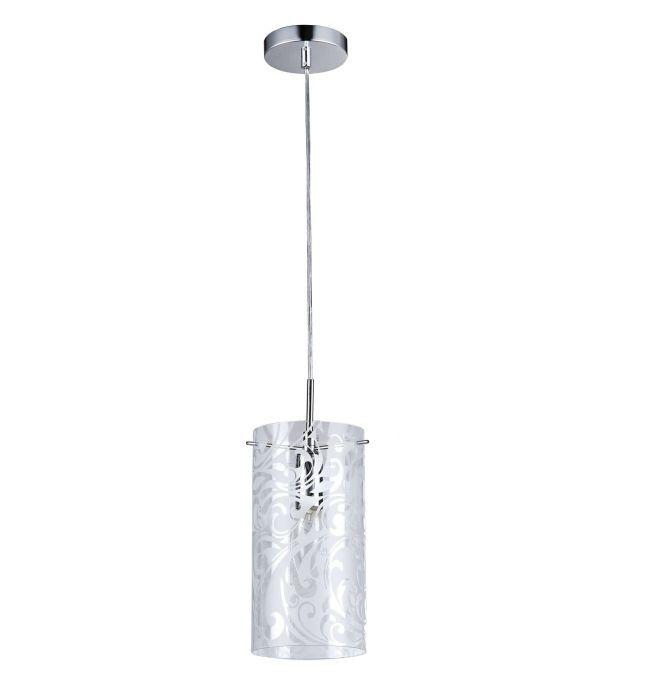 Pojedyncza lampa wisząca Fresh - Maytoni - srebrna, szkło ze wzorami