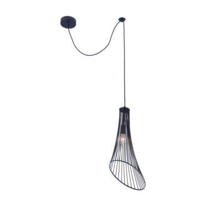 drut czarny na lampę wiszącą