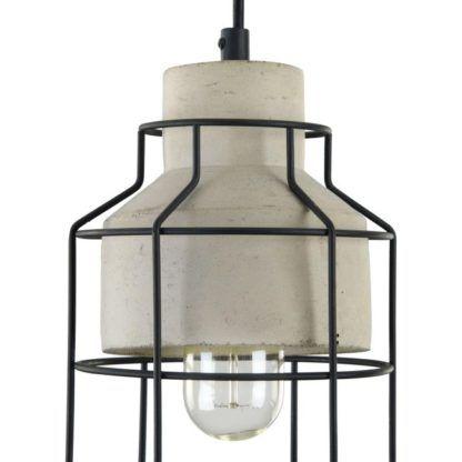lampa wisząca z drutu czarnego