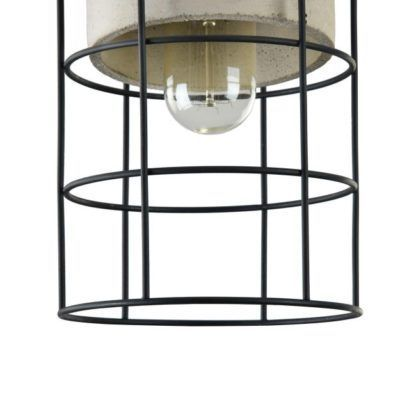 lampa wisząca betonowo druciana
