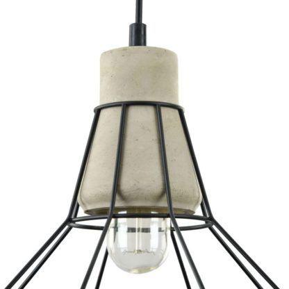 lampa druciano porcelanowa czarna