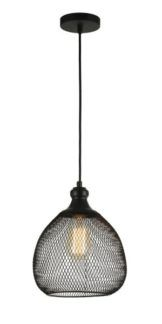 Lampa wisząca Grille - Maytoni - czarna siatka