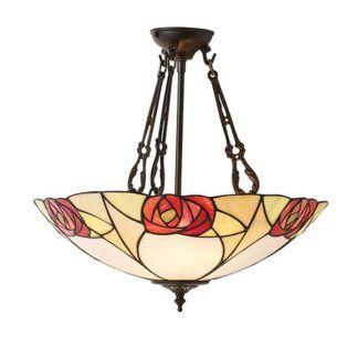 Lampa wisząca Ingram - Interiors - beżowe szkło