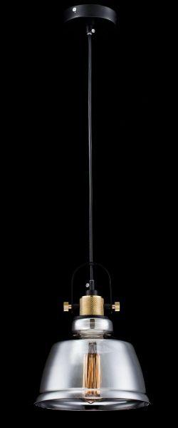 lampa wisząca szklana transparentna z żarówką edisona