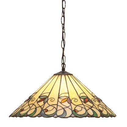 Lampa wisząca Jamelia - Interiors - kolorowe szkło