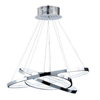 Lampa wisząca Kline 3 - Endon Lighting - chrom