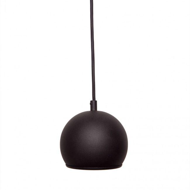 lampa wisząca w kształcie kuli w kolorze czarnym