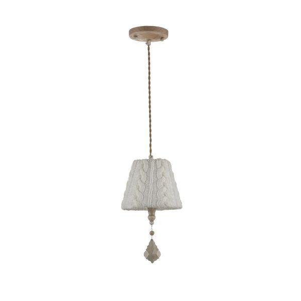 lampa wisząca z wełnianym abazurem