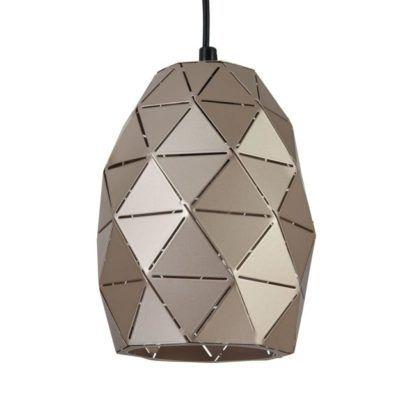 lampa z trójkątów wisząca