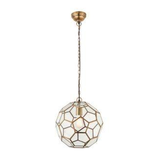 Lampa wisząca Miele - Endon Lighting - szklana, geometryczny wzór