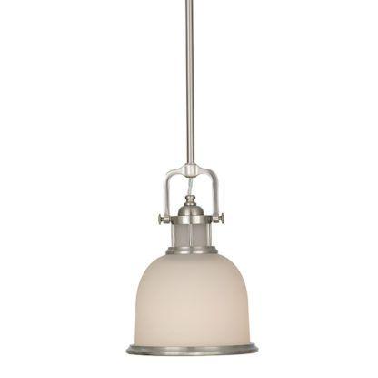 mała lampa wisząca w stylu modern classic, mleczne szkło i srebrne detale