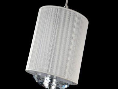 abażur w lampie wiszacej z siateczki