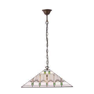 Lampa wisząca Mission - Interiors - szklany klosz