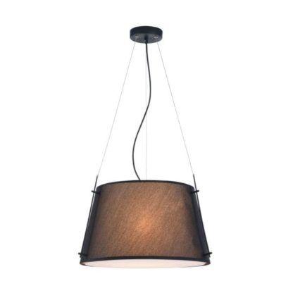lampa wisząca żyrandol z czarnym kloszem