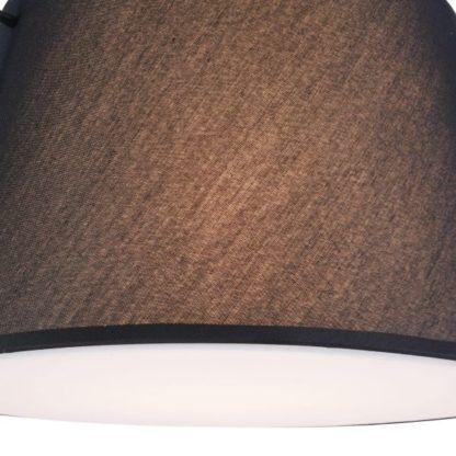 czarny materiałowy abażur do lampy