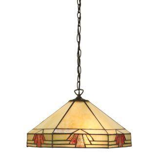 Lampa wisząca Nevada - Interiors - szkło Tiffany