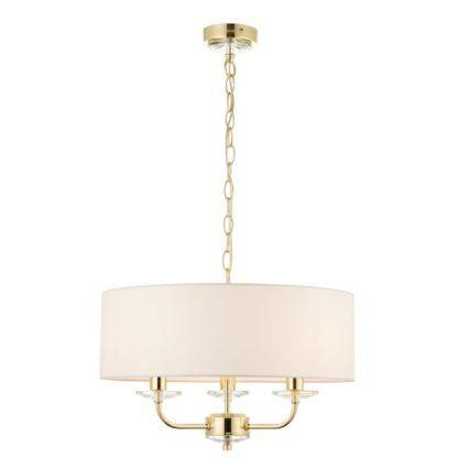 Lampa wisząca Nixon - Endon Lighting - biała, złota