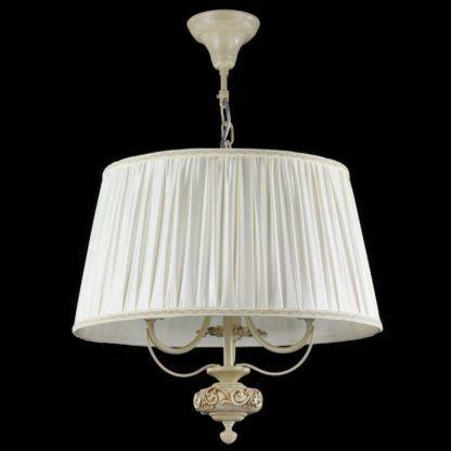 lampa wisząca z szerokim abażurem białym