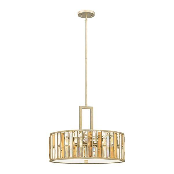 Dekoracyjna lampa wisząca kryształowa - Opal 2 - złota