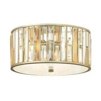 Dekoracyjny plafon z kryształkami - Opal 2 - złoty