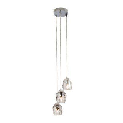 Lampa wisząca Poitier 3 - Endon Lighting - chrom, szklana