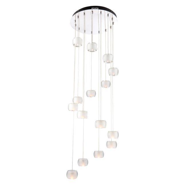 Lampa wisząca Seymour 15 - Endon Lighting - szklana