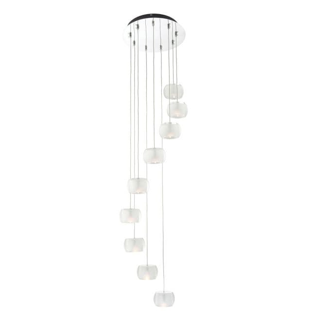 Lampa wisząca Seymour 9 - Endon Lighting -  szkło, chrom