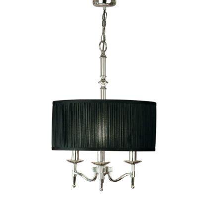 Lampa wisząca Stanford - Interiors - czarny klosz - srebrna