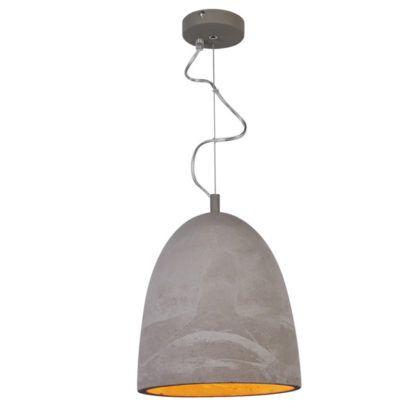 Lampa wisząca - Stone - Zuma Line - naturalny cement