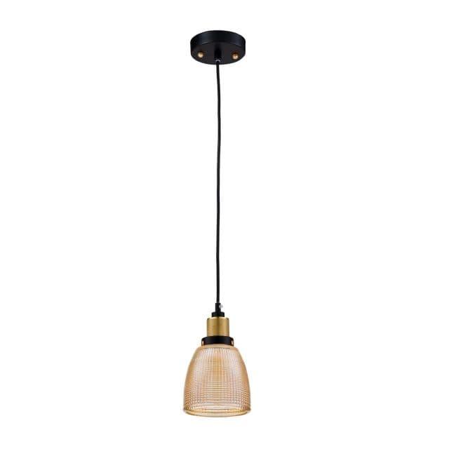Lampa wisząca Tempo - Maytoni - bursztynowe szkło