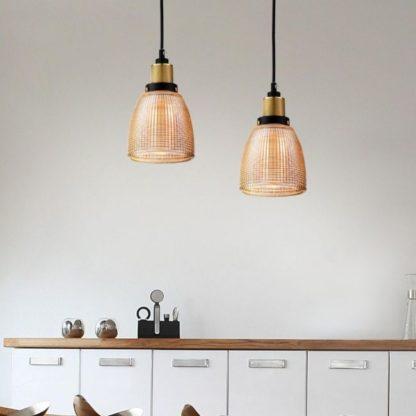 lampy wiszące miedziane do kuchni