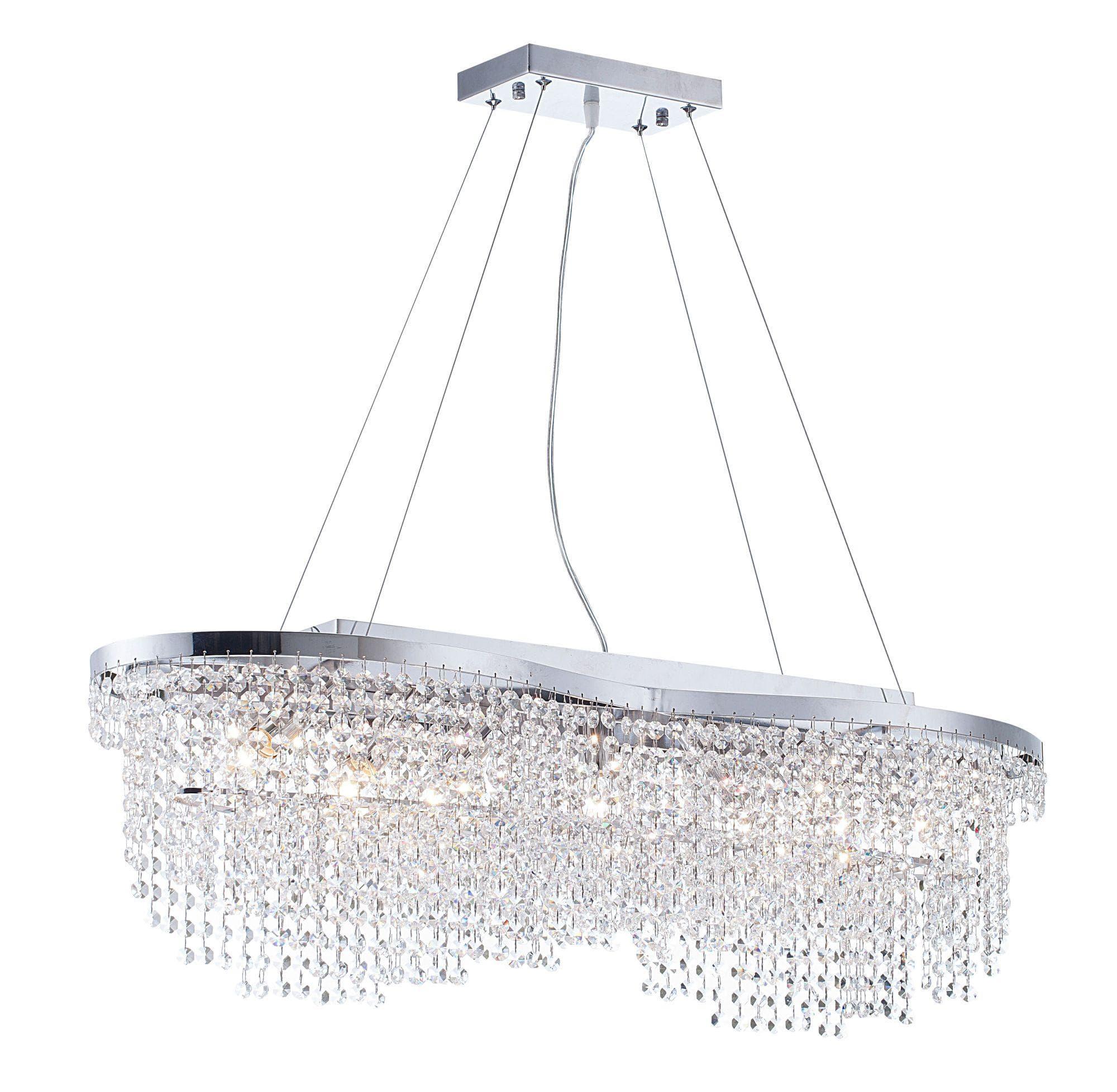 Lampa wisząca Tois - Maytoni - srebrna, kryształki