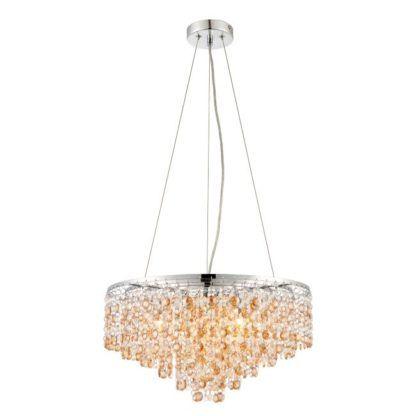 Lampa wisząca Vanessa - Endon Lighting - kryształowe szkło