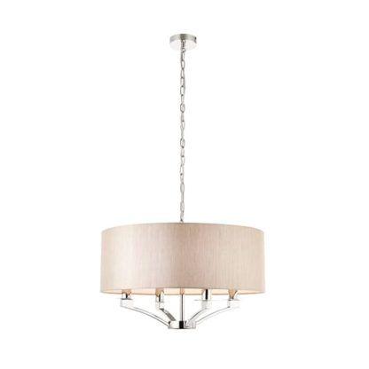 Lampa wisząca Vienna - Interiors - srebrna, beżowa