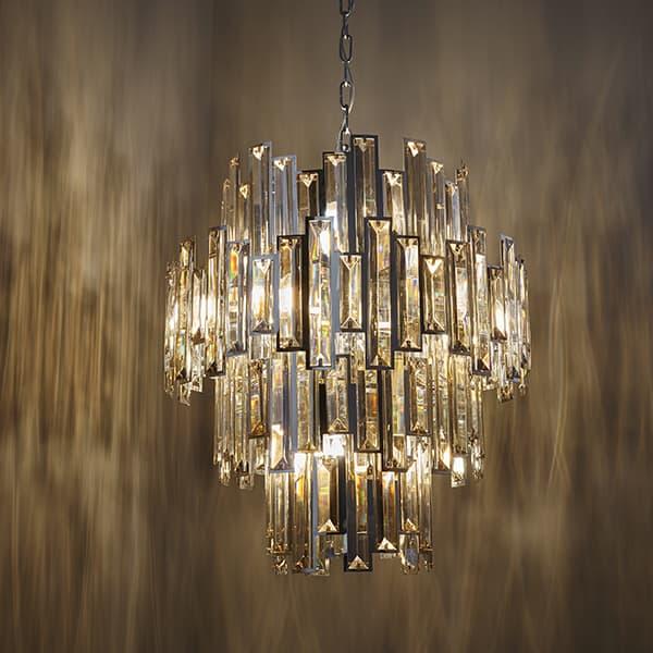 Lampy Wiszące Kryształowe