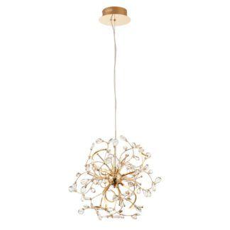 Lampa wisząca Willa LED - Endon Lighting - złota