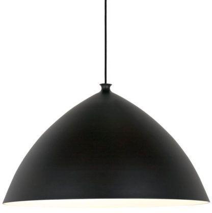 Lampa wisząca z dużym, czarnym kloszem - Slope 50 - DFTP - Nordlux