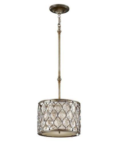 Lampa wisząca z kryształkami - Bella - srebrna