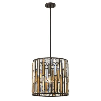 Lampa wisząca z kryształkami - Opal - ciemny brąz