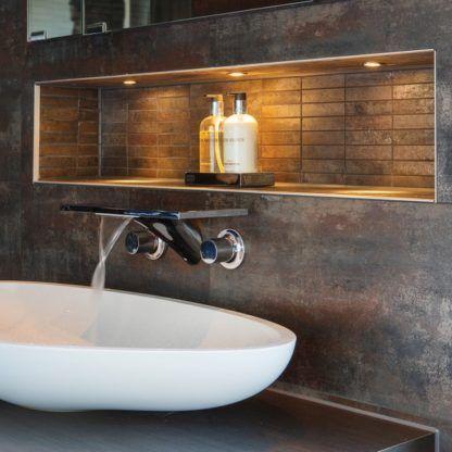 nowoczesne oczko świetlne do zabudowy, odporne na wilgoć - aranżacja łazienka