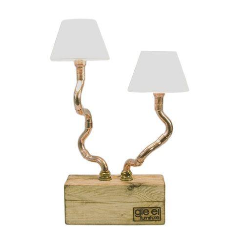 Lampa stołowa z rurek miedzianych Gie El Home