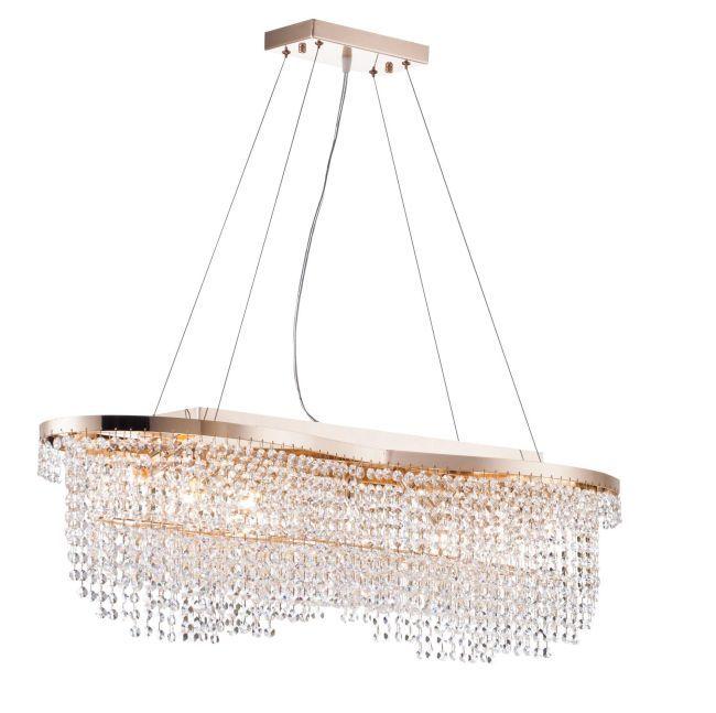 Luksusowa lampa wisząca Tois - Maytoni - kryształki, złota