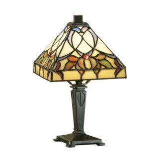 Mała lampa stołowa Alcea - Interiors - witraż, szkło