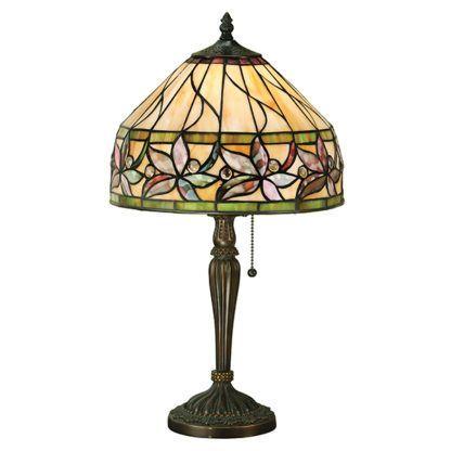 Mała lampa stołowa Ashtead - Interiors - szkło Tiffany