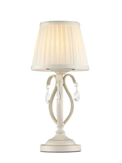 Mała lampa stołowa Brionia - Maytoni - kremowa, kryształki