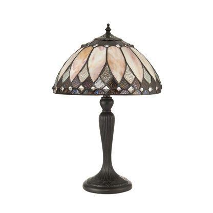 Mała lampa stołowa Brooklyn - Interiors - kremowy klosz